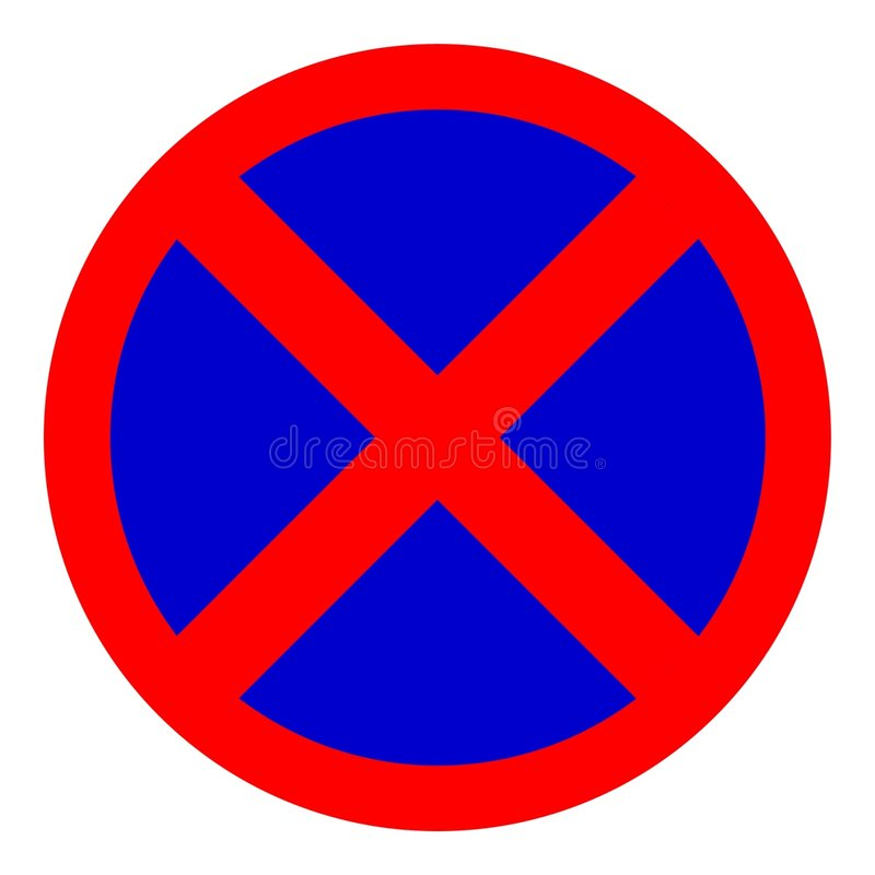 Download Poteau de signalisation illustration stock. Illustration du interdit - 64819