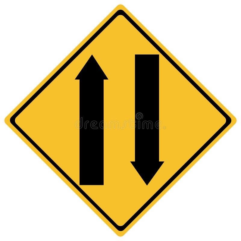 Poteau de signalisation illustration libre de droits