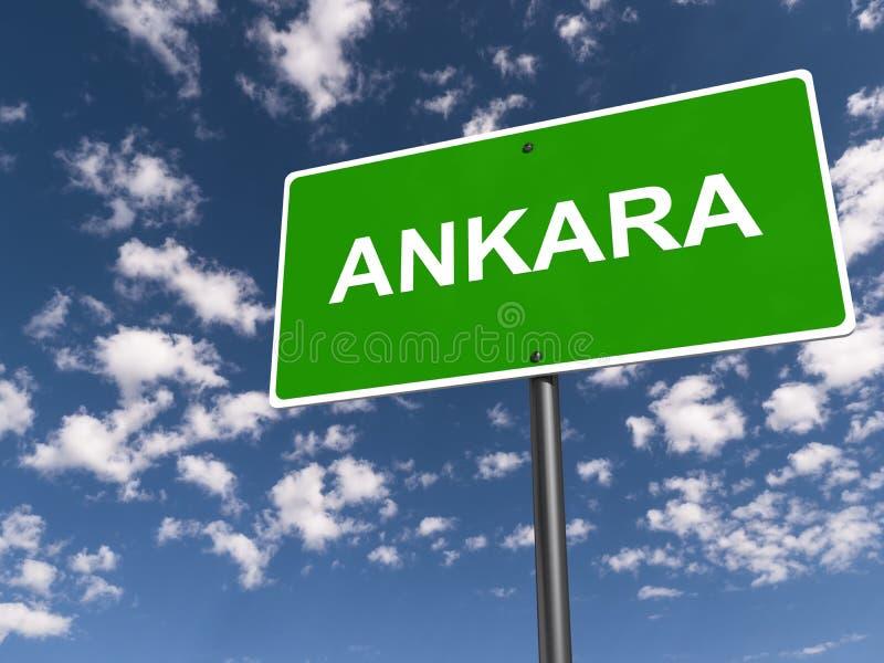 poteau de signalisation d'Ankara illustration libre de droits