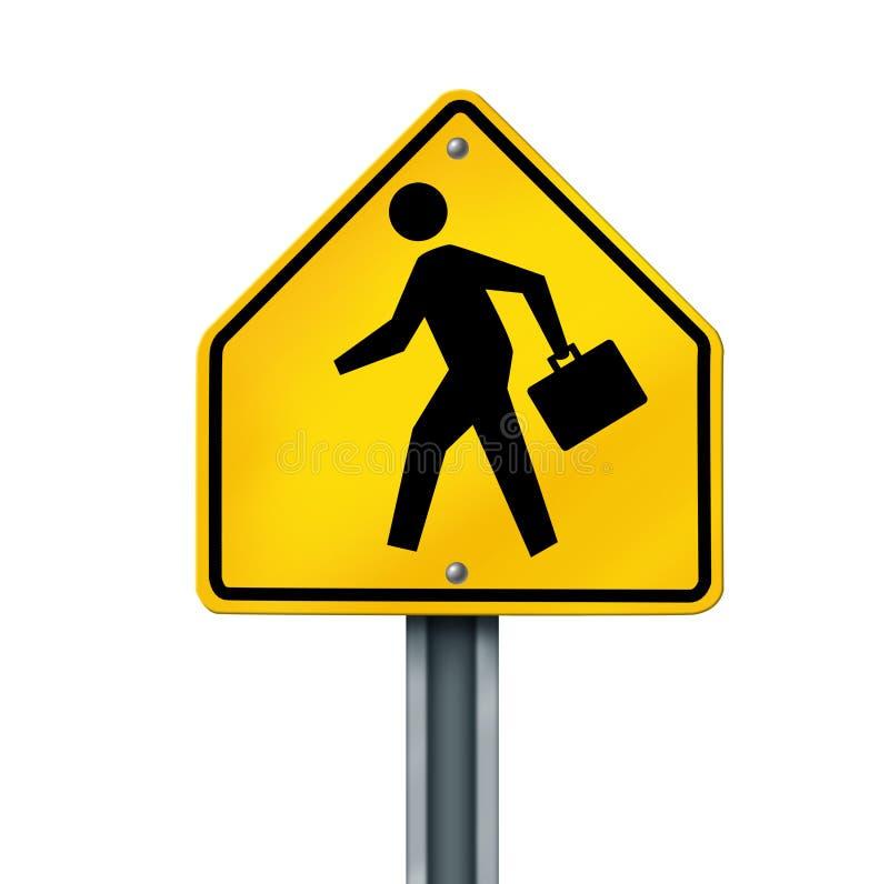 Poteau de signalisation d'homme d'affaires illustration de vecteur