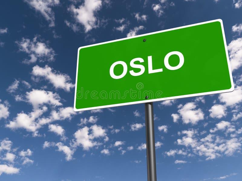 poteau de signalisation d'Oslo photo libre de droits