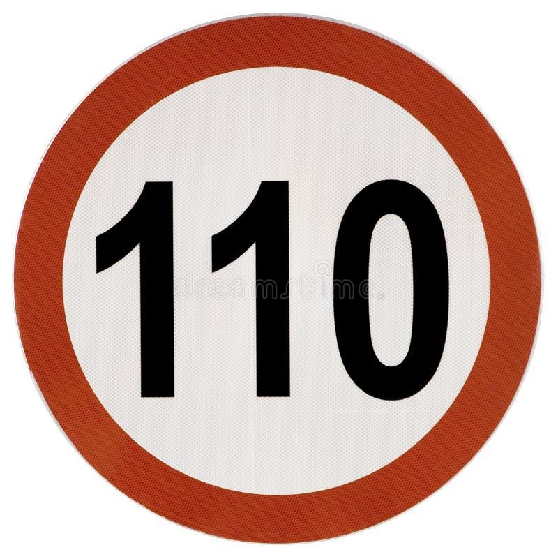 Poteau de signalisation de limitation de vitesse image stock