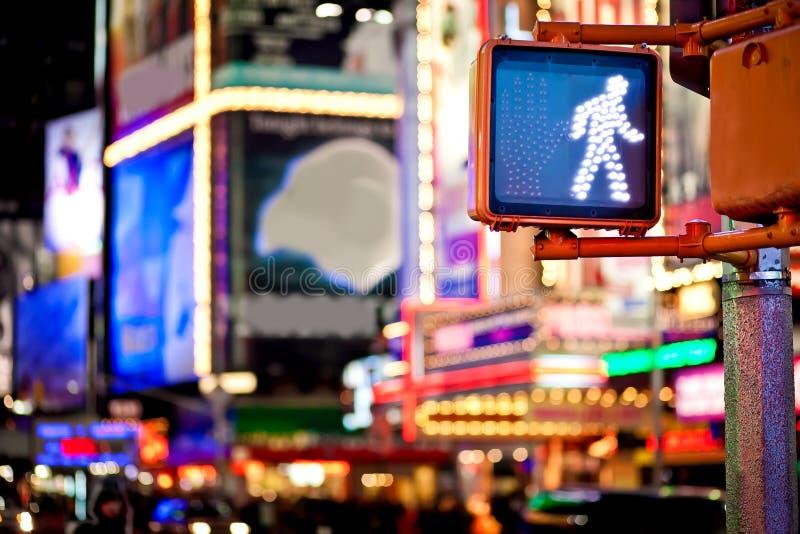 Poteau de signalisation de marche de New York de subsistance images stock