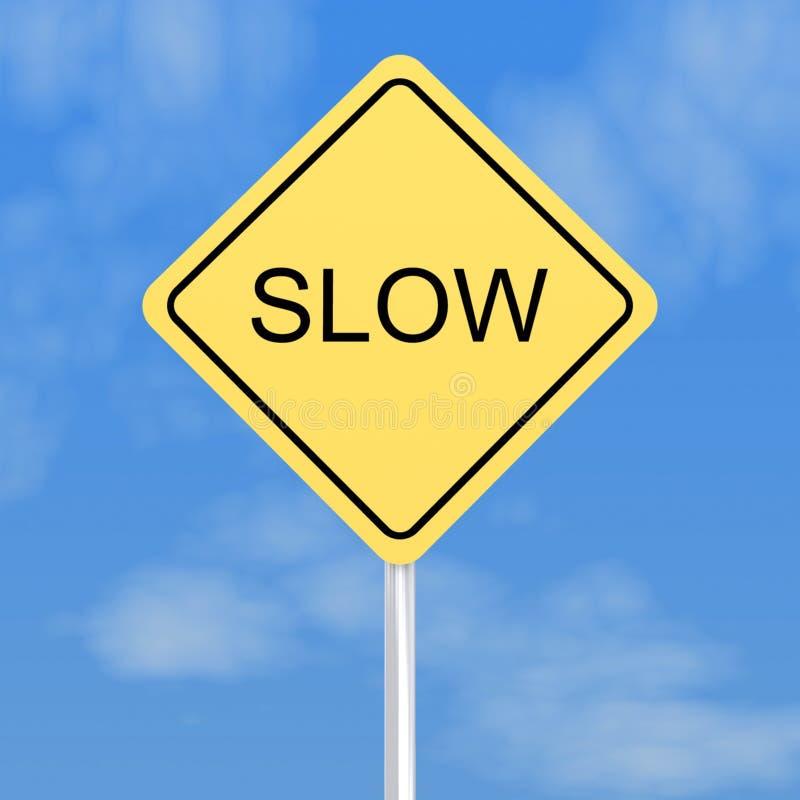 Poteau de signalisation lent illustration libre de droits