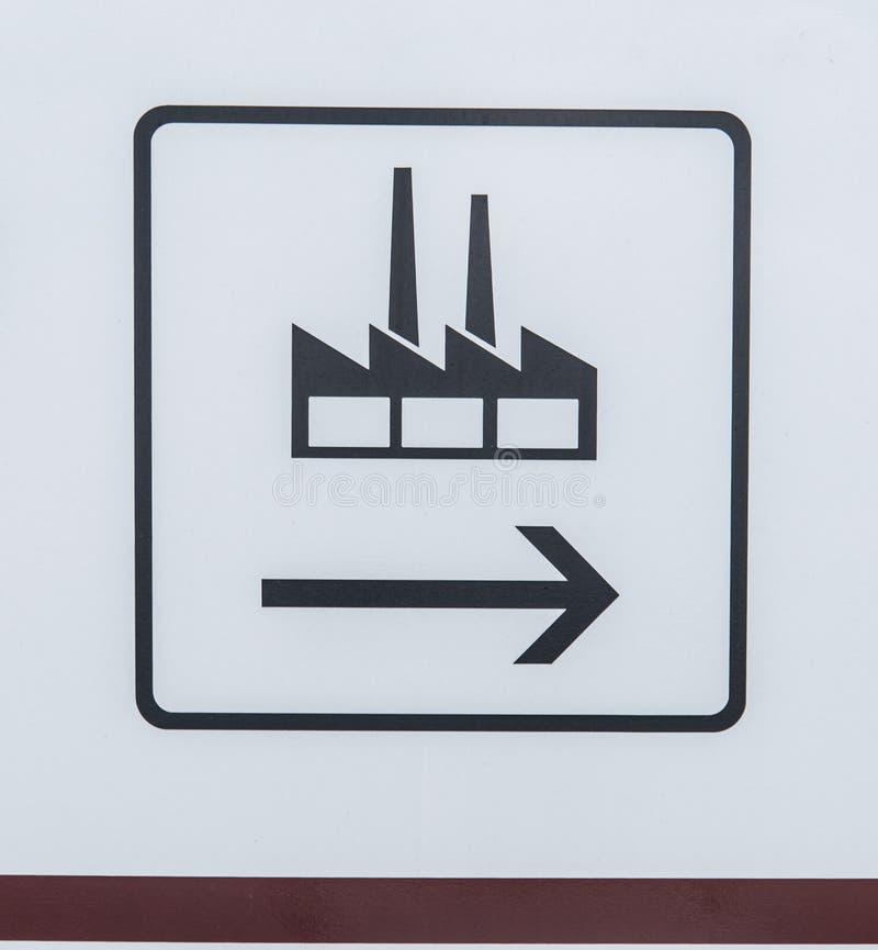Poteau de signalisation pour l'usine photos libres de droits
