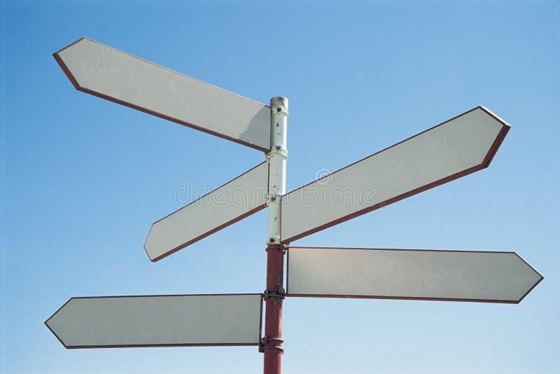 Poteau de signe blanc photos libres de droits
