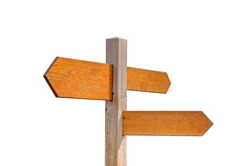 Poteau de signe en bois image stock
