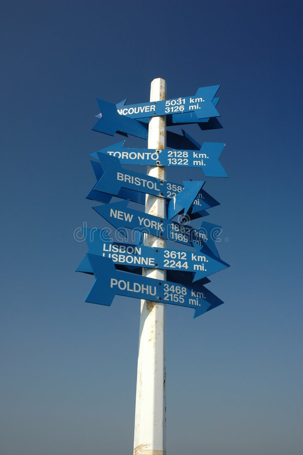 Poteau de signe, rue John images libres de droits