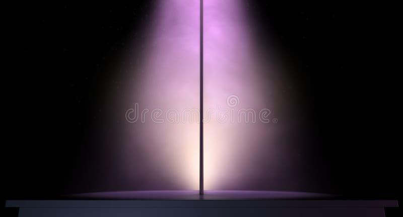 Poteau de strip-teaseuse photo stock