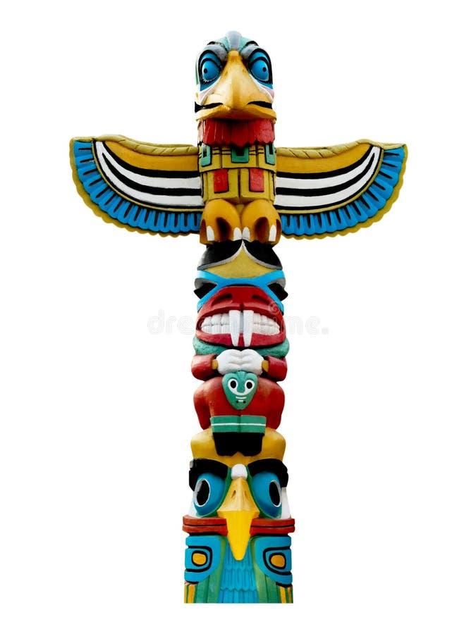 Poteau de totem coloré. photo libre de droits