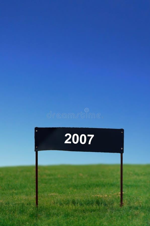 Poteau indicateur - 2007 image stock