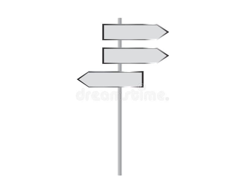 Poteau indicateur blanc illustration stock