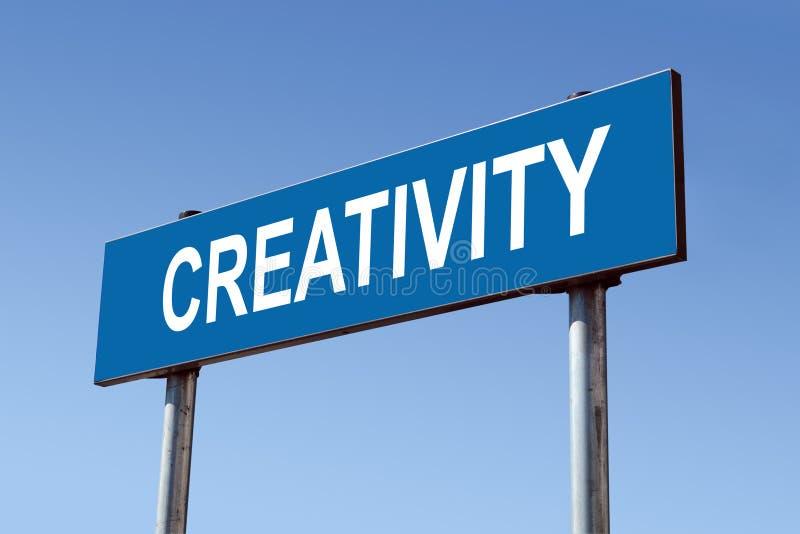Poteau indicateur de créativité photographie stock