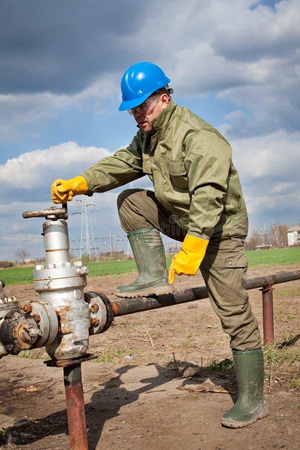 Poteau neuf de gaz-distribution image libre de droits