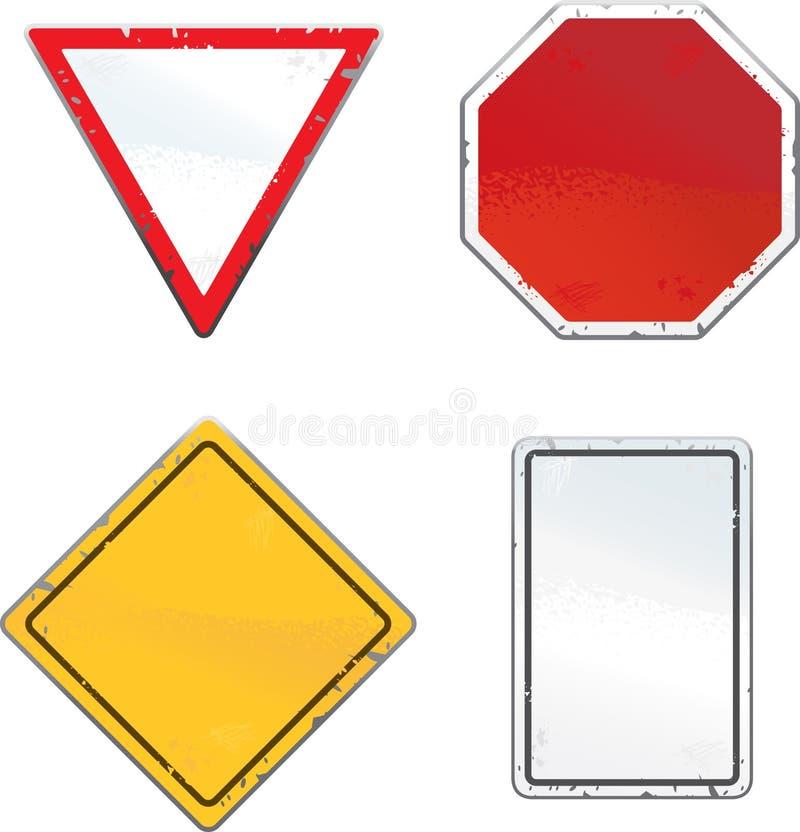 Poteaux de signalisation illustration libre de droits