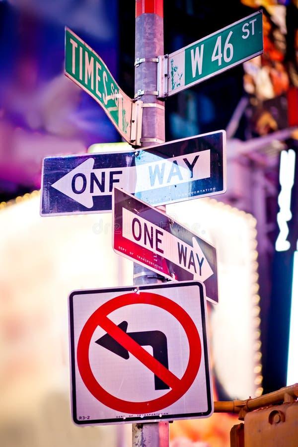 Poteaux de signalisation de New York image stock
