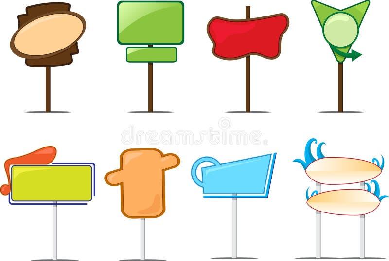Poteaux de signe blanc illustration stock