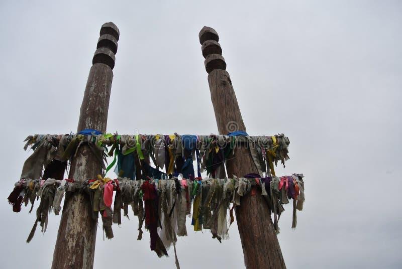 Poteaux sacrés images stock