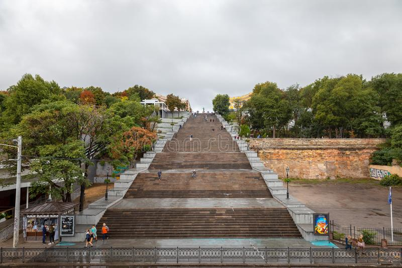 Potemkin台阶在傲德萨 乌克兰 免版税图库摄影
