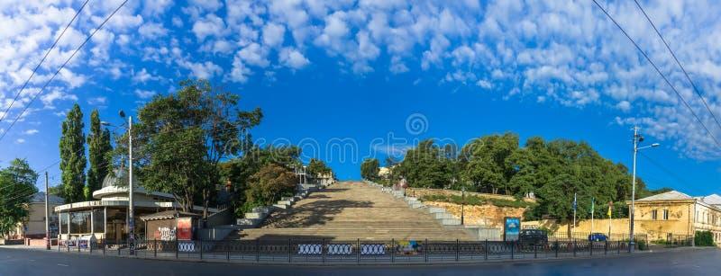 Potemkin巨型台阶在傲德萨 库存照片