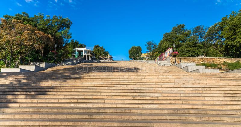 Potemkin Giant Stairs in Odessa royalty free stock photography