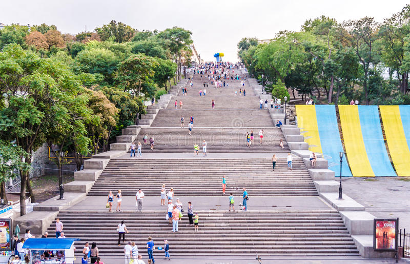 Potemkin stairs. The Symbol Of Odessa stock images
