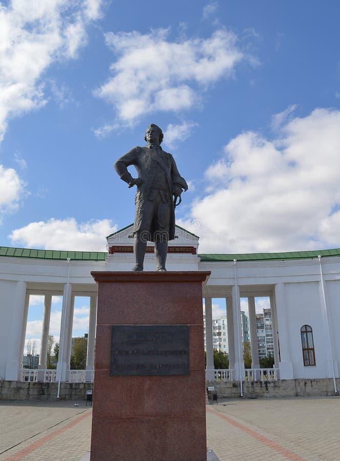 Potemkinstandbeeld, Militaire Begraafplaats, Buigmachine, Transnistria royalty-vrije stock foto's