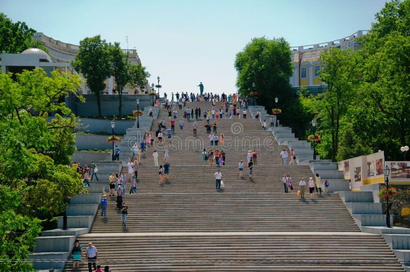 Potemkintreden Odessa Ukraine stock fotografie