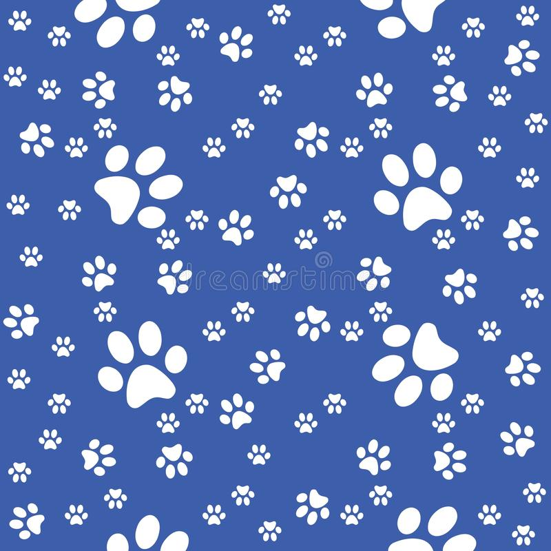 Poten naadloze achtergrond, potenpatroon, blauwe illustratie royalty-vrije stock afbeeldingen