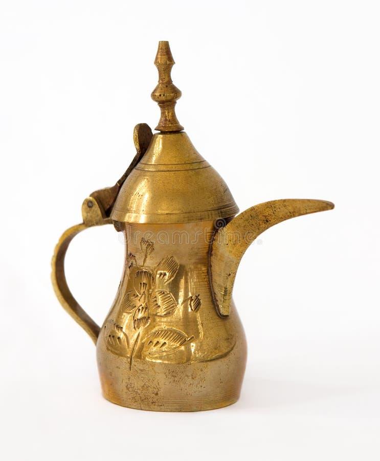 Potenciômetro árabe do café imagem de stock