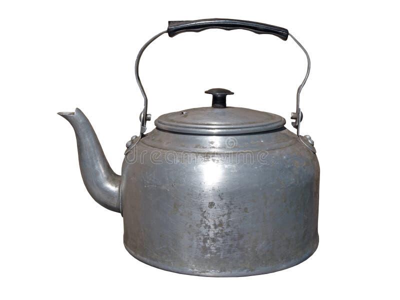 Potenciômetro de alumínio do chá fotos de stock royalty free