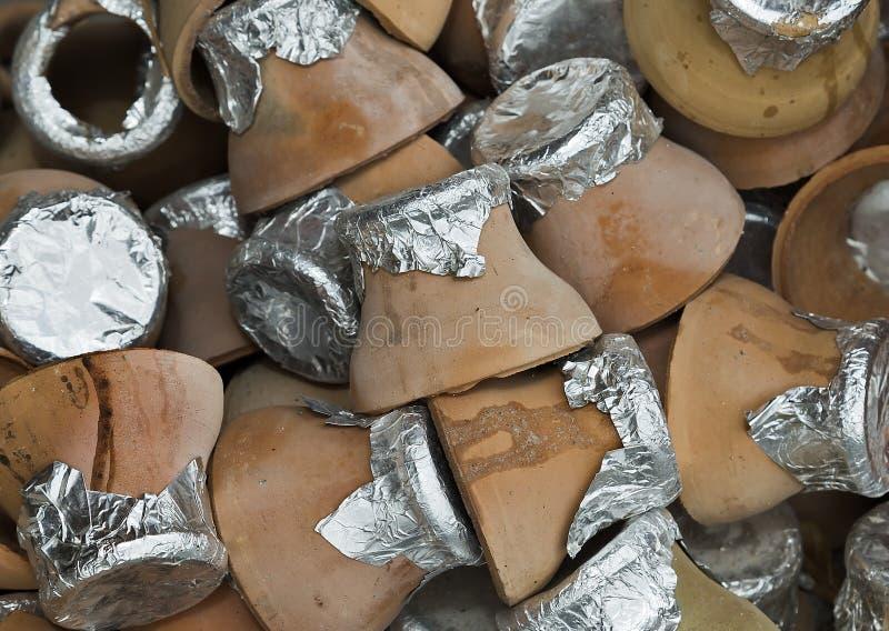 Potenciômetro de argila para a culinária turca tradicional do no espeto turco de Testi foto de stock