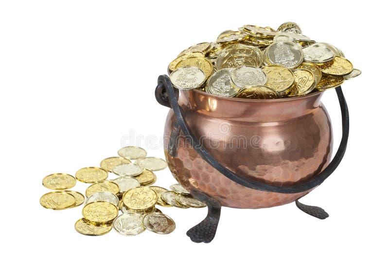 Potenciômetro de ouro imagens de stock royalty free