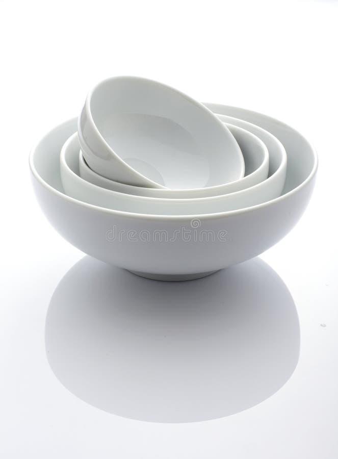 Potenciômetro de quatro brancos fotografia de stock