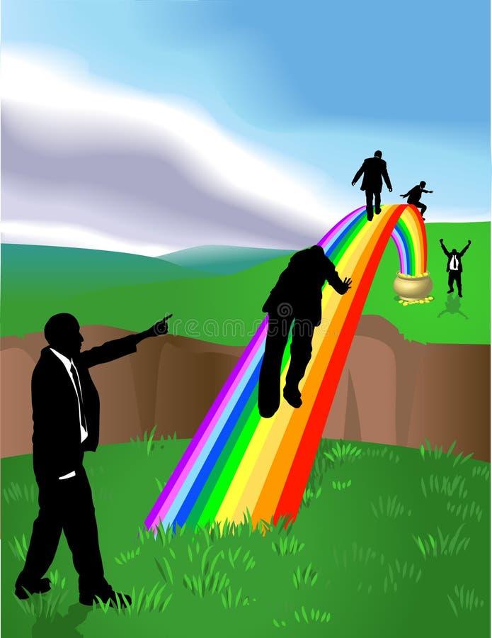 Potenciômetro do arco-íris do ouro ilustração stock