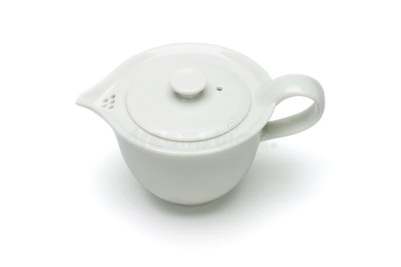 Potenciômetro do chá da porcelana fotografia de stock