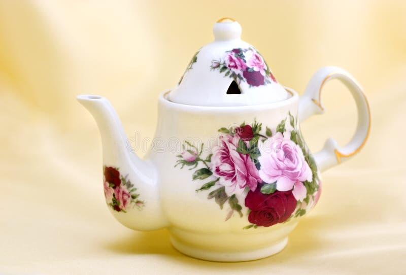 Potenciômetro do chá de Colectible imagem de stock