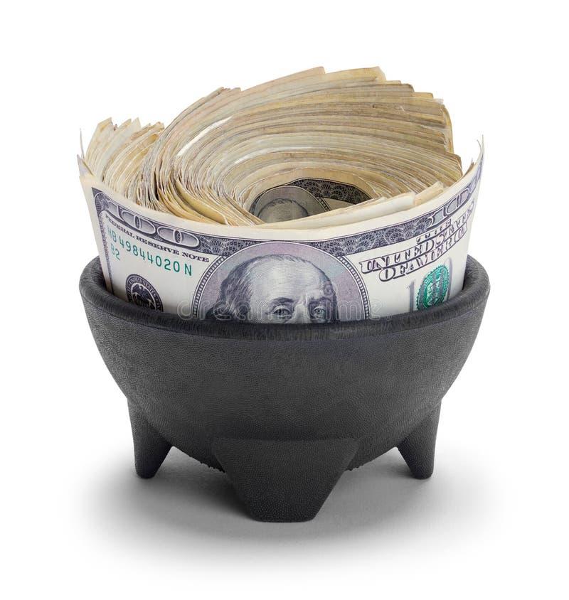 Potenciômetro do dinheiro imagens de stock royalty free