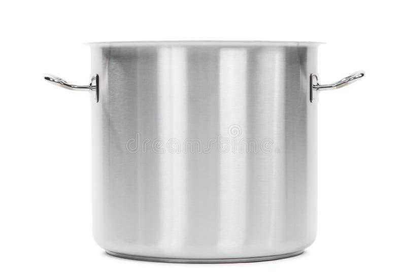 Potenciômetro do fogão do metal isolado imagem de stock royalty free