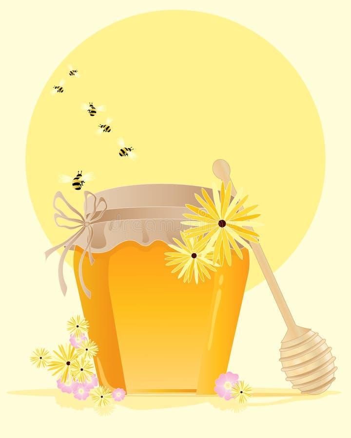 Potenciômetro do mel ilustração stock