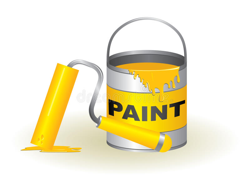 Potenciômetro e rolo de pintura ilustração royalty free