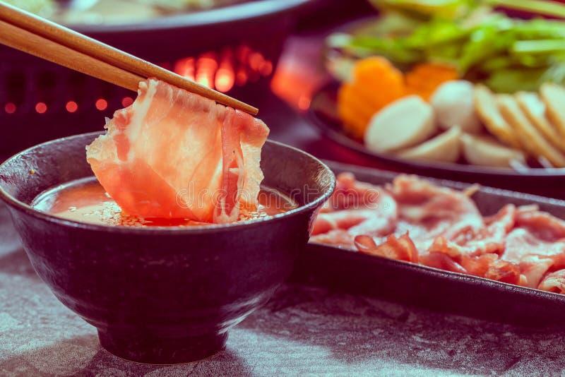 Potenciômetro quente do shabu de Shabu fotografia de stock