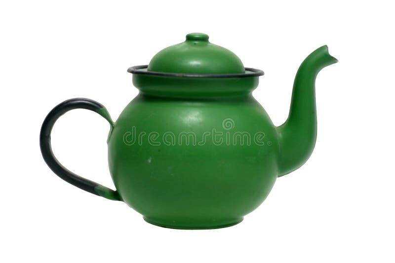 Potenciômetro velho do chá. foto de stock