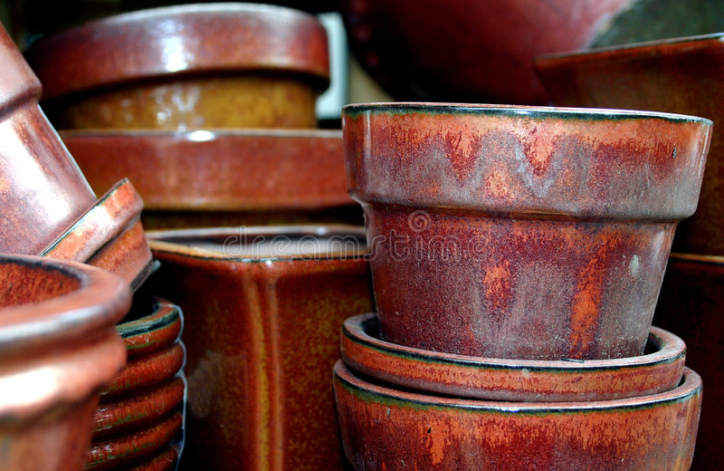 Potenciômetros de argila foto de stock royalty free