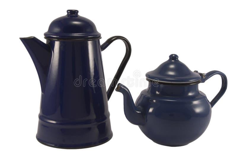 Potenciômetros do chá imagens de stock