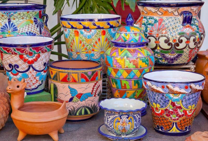 Potenciômetros mexicanos San Diego velho Califórnia imagens de stock