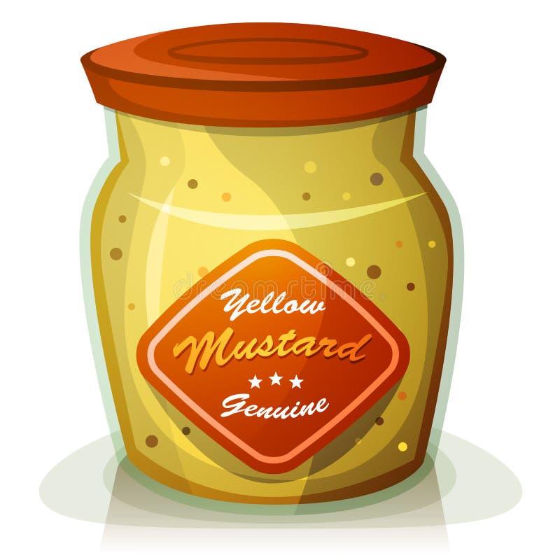 Potenciômetro amarelo da mostarda ilustração stock