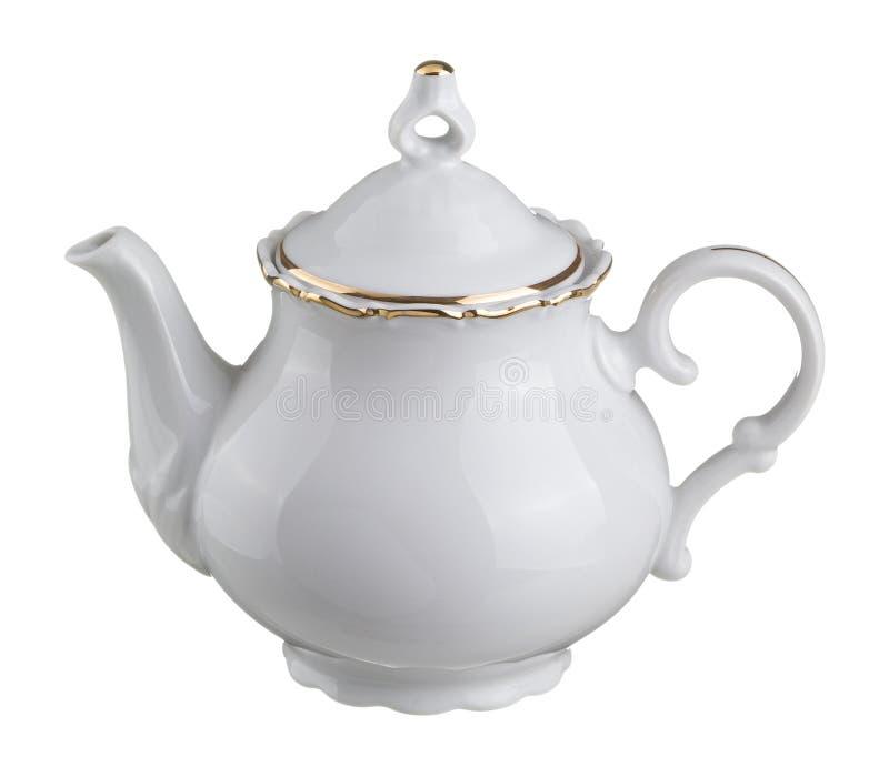 Potenciômetro branco do chá imagem de stock royalty free