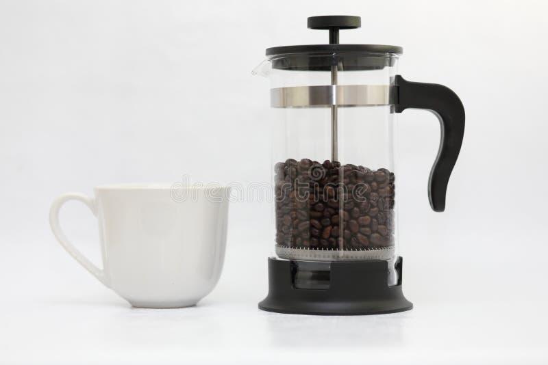 Potenciômetro da caneca e do café fotos de stock royalty free