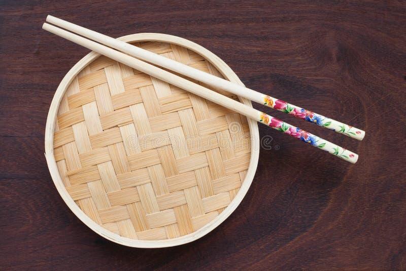 Potenciômetro de bambu tradicional imagens de stock